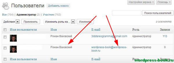Администратор блога WordPress
