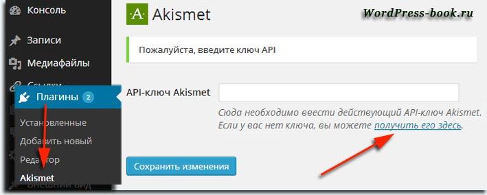 Плагин Akismet