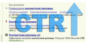 CTR контекстной рекламы