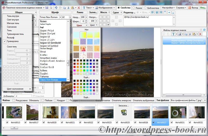 PhotoWatermark Professional - программа для наложения водяных знаков на фото
