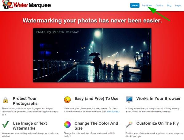 Water Marquee - сервис для наложения водяного знака на фото