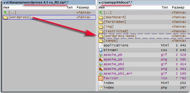 По адресу localhos откроется страница, которая находится в папке htdocs на диске с, стандартный путь к ней - c:\\xampp